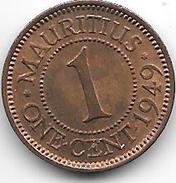 *mauritius 1 Cent  1949  Km 25   Unc !!! - Maurice
