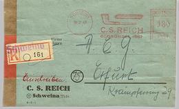 SBZ 1947 R-Brief Mit MaWSt. Firma C.S. Reich Ab Schweina  [h272]