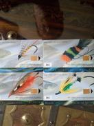 CANADA SERIE SET 4 CARDS POISSONS FISH 330 EX NEUVES MINTS QUEBECTEL Q10083 Q10084 Q10085 Q10086 - Canada