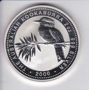 MONEDA DE PLATA DE AUSTRALIA DE 2 DOLLARS - 2 ONZAS DEL AÑO 2000 KOOKABURRA (SILVER-ARGENT) PAJARO-BIRD - Australia