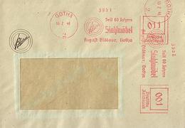 SBZ 1946 Brief Mit MaWSt. Firma A. BLÖDNER Ab Gotha  [h269]