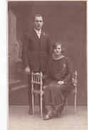 26051  Photo -couple Noce Mariage Gabrille Charles1924 -studio Monu Bruxelles  Belgique -
