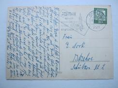 1962 , Winseldorf  , Klarer Landpoststempel Auf Karte Aus Itzehoe
