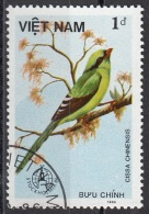 1661 Viet Nam 1986 Uccelli Birds  Passeri Gazza Verde - Cissa Chinensis  Used