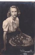 26052  Photo -femme Jeune Fille 1944 -studio Harvil Bruxelles  Belgique -