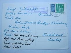 1950 , BOHMSTEDT über Bredstedt , Klarer Landpoststempel Auf Karte