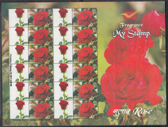INDIA, 2017, MY STAMP, Roses, Flowers, Rose, FULL SHEETLET, LIMITED ISSUE, MNH, (**)