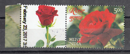 INDIA, 2017, MY STAMP, Roses, Flowers, Rose, 1v With Tab, LIMITED ISSUE,  MNH, (**) - Ongebruikt