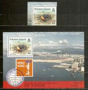 Crabe-fantôme Des îles Solomons (hautes Faciales $ 4.00), Un Bloc-feuillet + Timbre Neufs **