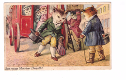 Chat Humanisé Illustration Illustrateur Bon Voyage Monsieur Dumollet - Chats