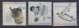 M 355) Liechtenstein 2006 Mi# 1431-1433 **: Curta Rechenmaschine, Carena Kamera, PAV-Schieblehre (Mess Schieber)