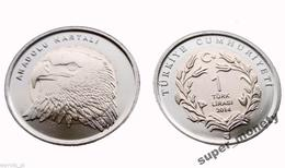 TURKEY 2014 1 Lira EAGLE - Turquie