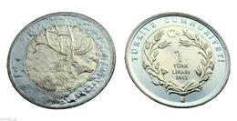 TURKEY 2012 1 Lira DEER UNC - Turkey