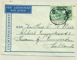 Nederlands Indië - 1936 - 42,5 Cent Opdruk Op 75 Cent LP-zegel Van PV TANDJONG PRIOK Naar Huizum / Nederland
