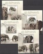 A284 2012 BURUNDI FAUNA WILD ANIMALS LES ELEPHANTS 4LUX BL MNH