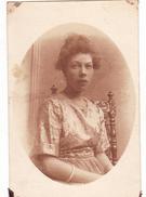 26062  Carte Photo -femme -  Belgique - Année 1920 ?  - Métisse ?