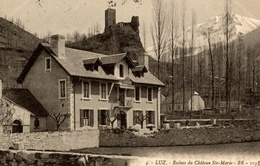 CPA Luz Ruines Du Château St-Marie