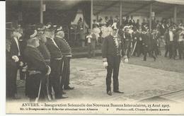 Anvers Inauguration Solennelle Des Nouveaux Bassins Intercalaires 15 Aout 1907 Mr Le Bourgemestre Et Echevins... (5259) - Antwerpen