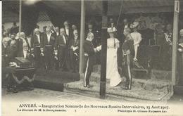 Anvers Inauguration Solennelle Des Nouveaux Bassins Intercalaires 15 Aout 1907 Le Discours De M La Bourgemestre (5262) - Antwerpen