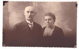 26068 Carte Photo -couple Age Vieillard   -  Belgique -