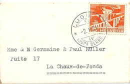 Neujahrsbrieflein  Lugnez (Jura Bernois) - La Chaux-de-Fonds              1951