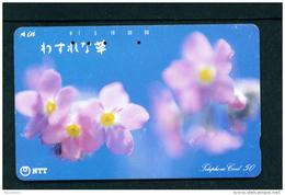 JAPAN - Magnetic Phonecard - Flower(s) As Scan (331-137) - Blumen