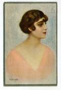 M. BETTINELLI - Art Sign Pc. - Femme - Frau - Lady - Woman  ( 2 Scans ) - Illustrateurs & Photographes