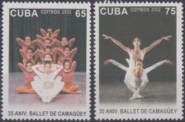 2002.26 CUBA MNH 2002. 35 ANIV BALLET DE CAMAGUEY DANCE