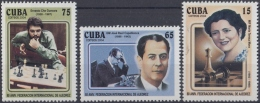2004.1 CUBA MNH 2004. 80 ANIV FEDERACION DE AJEDREZ CHE GUEVARA JOSE RAUL CAPLANCA MARIA TERESA MORA