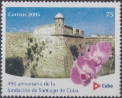 2005.15 CUBA MNH 2005. 490 ANIVERSARIO DE LA FUNDACION DE SANTIAGO DE CUBA. CASTILLO DEL MORRO CASTLE.