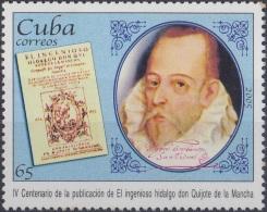2005.8 CUBA MNH 2005. 400 ANIV PUBLICACION DON QUIJOTE DE LA MANCHA. MIGUEL DE CERVANTES.