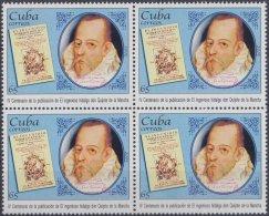 2005.9 CUBA MNH 2005. 400 ANIV PUBLICACION DON QUIJOTE DE LA MANCHA. MIGUEL DE CERVANTES. BLOCK 4.