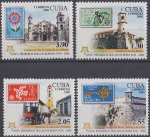 2005.251 CUBA MNH 2005. 50 ANIVERSARIO EMISIONES EUROPA. PERFORADO.