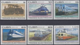 2007.45 CUBA MNH 2007. TRENES ELECTRICOS. ELECTRIC RAILROAD FERROCARRIL TRAIN LOCOMOTIVE.