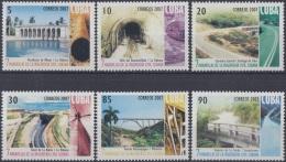 2007.50 CUBA MNH 2007. MARAVILLAS DE LA INGENIERIA CUBANA. CARRETERA CENTRAL TUNEL DE LA BAHIA PUENTE BRIDGES ACUEDUCTO