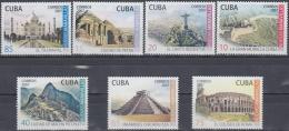 2007.51 CUBA MNH 2007. NUEVAS MARAVILLAS. MARVELS MURALLA CHINA PETRA TAJ MAHAL MACHU PICHU CHICHEN ITZA CRISTO CORCOBAD