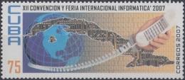 2007.55 CUBA MNH 2007. XII CONVENCION FERIA DE INFORMATICA. TELEFONO TELEPHON.
