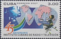 2007.56 CUBA MNH 2007. 45 ANIV INSTITUTO CUBANO DE RADIO Y TELEVISION.
