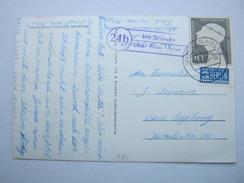 1953 , IM SANDE über Plön  , Klarer Landpoststempel Auf Karte