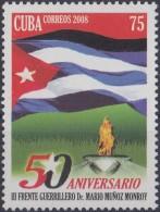 2008.23 CUBA MNH 2008. 50 ANIV III FRENTE MARIO MUÑOZ MONROY. BANDERA FLAG.