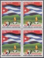 2008.24 CUBA MNH 2008. 50 ANIV III FRENTE MARIO MUÑOZ MONROY. BANDERA FLAG. BLOCK 4.