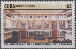2008.25 CUBA MNH 2008. 280 ANIV UNIVERSIDAD DE LA HABANA. HAVANA UNIVERSITY AULA MAGNA.