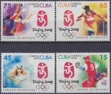 2008.31 CUBA MNH 2008. JUEGOS OLIMPICOS BEIJING CHINA. OLIMPIC GAMES. VOLEIBOL NATACION BEISBOL BASEBALL.