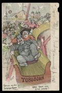 [027] Leipzig, Leipziger Messe, Toboggan, Künstlerkarte ~1910, Verlag Lahl, Starke Mängel - Leipzig