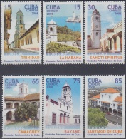 2008.39 CUBA MNH 2008. CIUDADES PATRIMONIALES TURISMO TOURISM CAMAGUEY BAYAMO TRINIDAD HABANA SANCTI SPIRITUS.