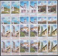 2008.40 CUBA MNH 2008. CIUDADES PATRIMONIALES TURISMO TOURISM BLOCK 4. CAMAGUEY BAYAMO TRINIDAD HABANA SANCTI SPIRITUS.