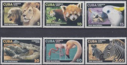 2008.49 CUBA MNH 2008. ZOOLOGICO ZOO. CEBRA FLAMENCO FLAMINGO COCODRILO CACATUA PARROT BIRD FOX LEON LION.