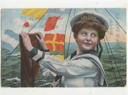 SMS Elsass 1915 WW1 Germany Naval Postcard US041