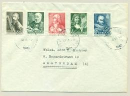 Nederland - 1940 - Zomerserie (5 Waardes) Op Cover Lokaal Amsterdam - Periode 1891-1948 (Wilhelmina)