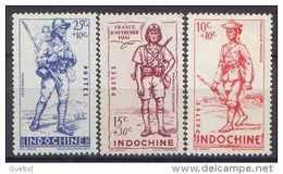 Détail De La Série Défense De L'Empire * Indochine N° 219 à 221 - 1941 Défense De L'Empire